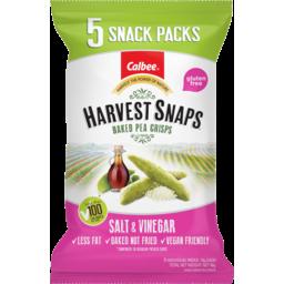 Photo of Harvest Snaps Salt & Vinegar Baked Pea Crisps Multi-Pack 5x18g 90g
