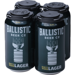 Photo of Ballistic Dirty Word Lager Cans