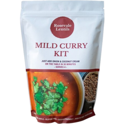 Photo of Rosevale Lentils - Mild Curry Kit - Serves 4