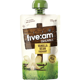 Photo of Five:Am Organic Vanilla Bean Yoghurt Squeezy 120g