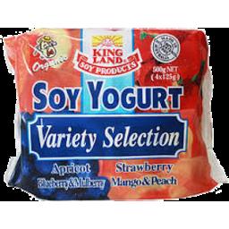 Photo of Kingland Soy Yoghurt Variety Selection 4pk 500gm