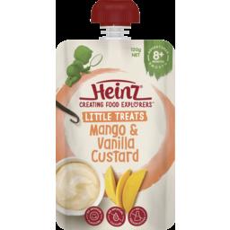Photo of Heinz® Little Treats Mango & Vanilla Custard Baby Food Pouch 8+ Months 120g