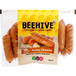 Photo of Beehive Sausages Tasty Cheese 800g
