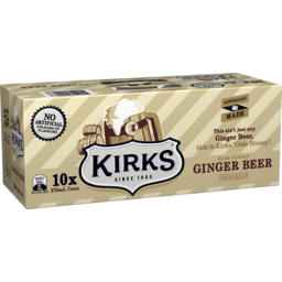 Photo of Kirks Originals Olde Stoney Ginger Beer Multipack Cans Soft Drink 10x375ml