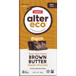 Photo of ALTER ECO DARK SALTED BROWN BUTTER 80G