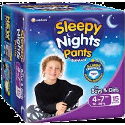 Photo of Babylove Sleepy Nights 4-7 Years 18-35kg 15 Pack