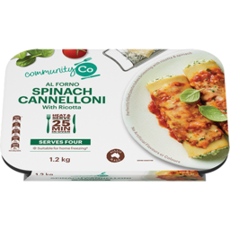 Photo of Community Co. Spinach & Ricotta Cannelloni 1.2kg