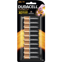 Photo of Duracell Coppertop Batteries Aa 10 Pack