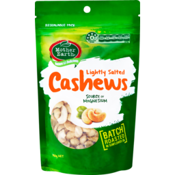 Photo of Mother Earth Roasted Cashews Lightly Salted 150g