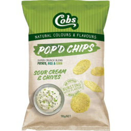 Photo of Cobs Sour Cream & Chives Pop'd Chips 50g