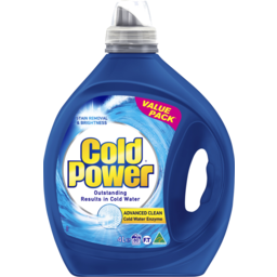 Photo of Cold Power Advanced Clean Cold Water Enzyme, Liquid Laundry Detergent, 4 Litres 4l
