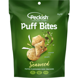 Photo of Peckish Puff Bites Flavoured Rice Crackers Seaweed 80g