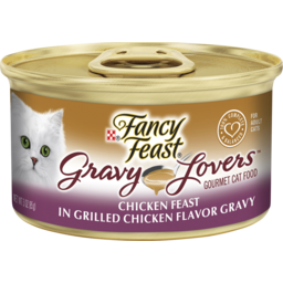 Photo of Fancy Feast Adult Gravy Lovers Chicken Feast In Grilled Chicken Flavour Gravy Wet Cat Food 85g