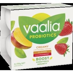 Photo of Vaalia Probiotic Mango & Strawberry Yoghurt 4x150g
