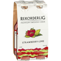 Photo of Rekorderlig Cider Strawberry & Lime 330ml 4 Pack