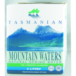 Photo of Tasmanian Mountain Spring Water 5lt