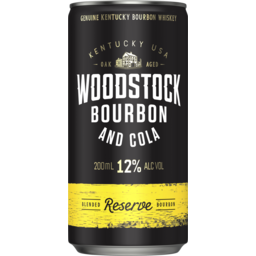 Photo of Woodstock Bourbon & Cola 12% Can