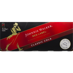Photo of Johnnie Walker Red Label & Cola Cans