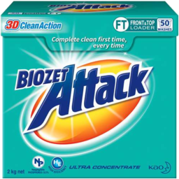 Photo of Biozet Attack 3d Clean Action F&T Powder 2kg