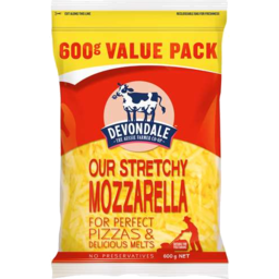 Photo of Devondale Mozarella Shredded 600g Value Pk