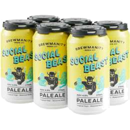 Photo of Brewmanity Social Beast Can 375ml 6 Pack