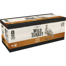 Photo of Wild Turkey Original & Cola 375ml 10 Pack
