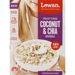 Photo of Lowan Fruit Free Muesli Coconut & Chia 650g