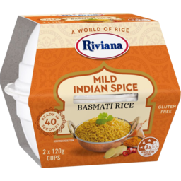 Photo of Riviana Mild Indian Spice Basmati Rice Cups 2x120g
