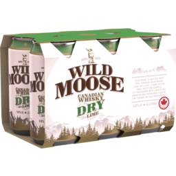 Photo of Wild Moose Canadian Whisky & Dry 4.8% 375ml 6 Pack