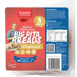 Photo of Giannis Pita Bread Wholemeal 5 Pack