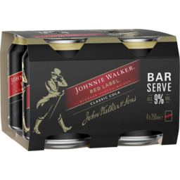 Photo of Johnnie Walker & Cola Bar Serve 9% Can