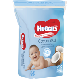 Photo of Huggies Thick & Soft Baby Wipes Refill Coconut Oil 200 Pack