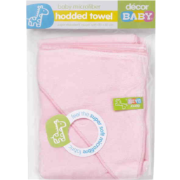 Photo of Decor Baby Towel Hooded Mfibre