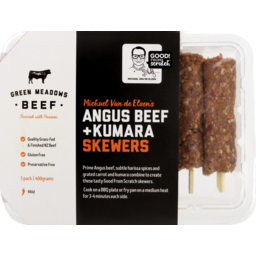 Photo of Green Meadows Beef Angus Beef & Kumara Skewers 5pk Mild 400g