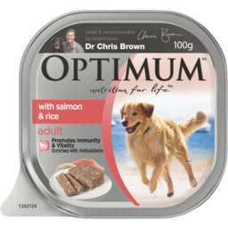 Photo of Optimum With Salmon Rice & Vegetables 100g