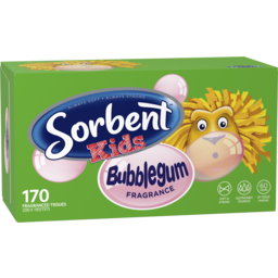 Photo of Sorbent Kids Bubblegum Fragranced Tissues 170 Pack