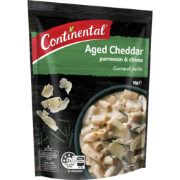 Photo of Continental Aged Cheddar Parmesan & Chive Pasta 90g