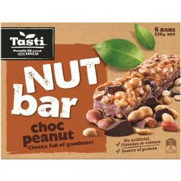 Photo of Tasti Nut Bar Choc & Peanut 210g 6