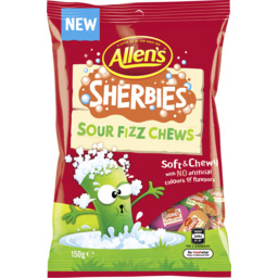Photo of Allens Sherbies Sour Fizz Chew 150gm