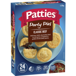Photo of Patties Party Pies 24pk 1.12kg