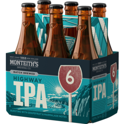 Photo of Monteith's Highway IPA 330ml Bottles 6 Pack