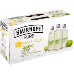 Photo of Smirnoff Pure Lime 10x300b