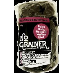 Photo of No Grainer Gluten Free & Paleo Date/Raisin/Walnut Loaf