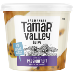 Photo of Tamar Valley Yoghurt Passionfruit No Added Sugar 700g