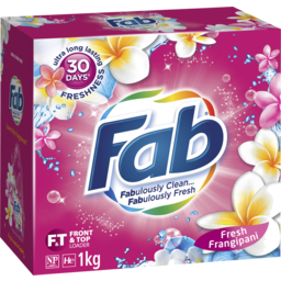 Photo of Fab Laundry Powder Frangipani One Form 1kg