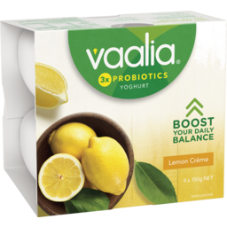Photo of Vaalia Yoghurt Lemon Creme 4x150g