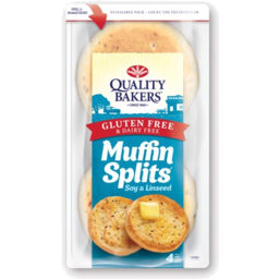 Photo of Quality Bakers Muffin Splits Gluten & Dairy Free Soy & Linseed  4 Pack