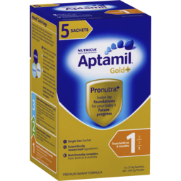 Photo of Aptamil Gold+ Infant Formula From Birth To 6 Months Powder 5 Pack 109.5g