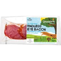 Photo of Freedom Farms Eye Bacon Smoked Rindless 250g