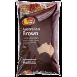Photo of Sunrice Australian Brown Medium Grain Rice 5kg